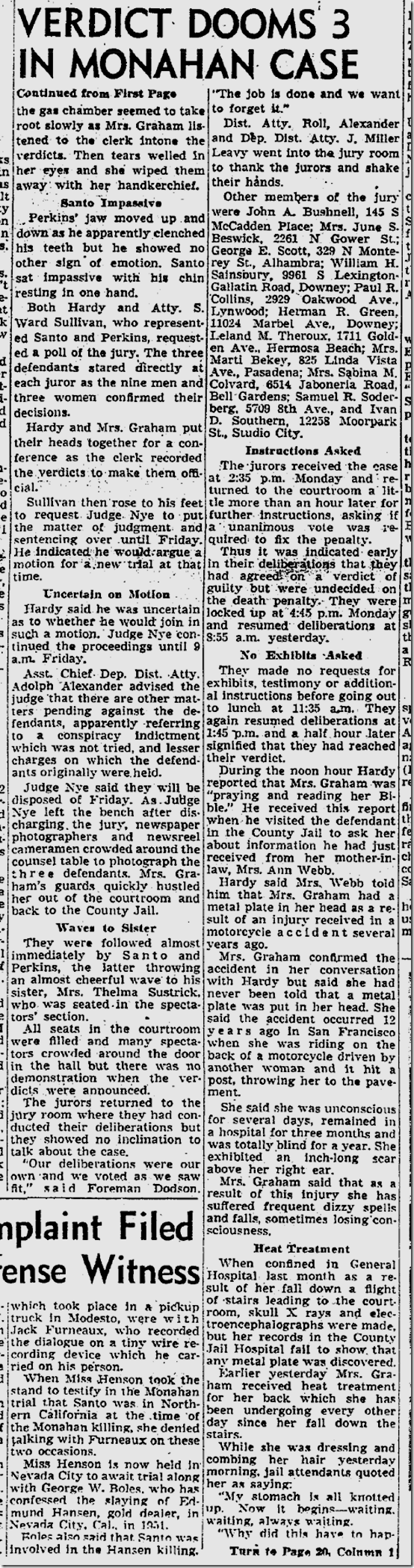 Sept. 23, 1953, Barbara Graham Convicted