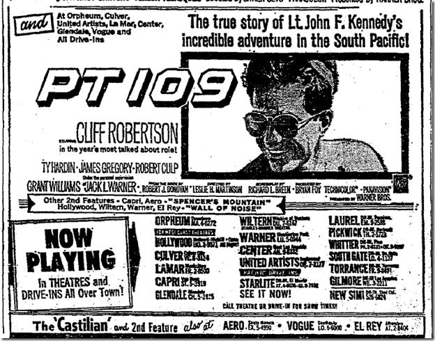 Sept. 27, 1963, PT 109