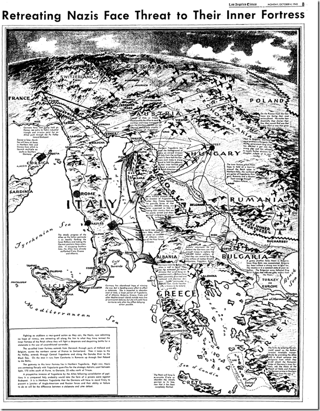 Oct. 4, 1943, War Map
