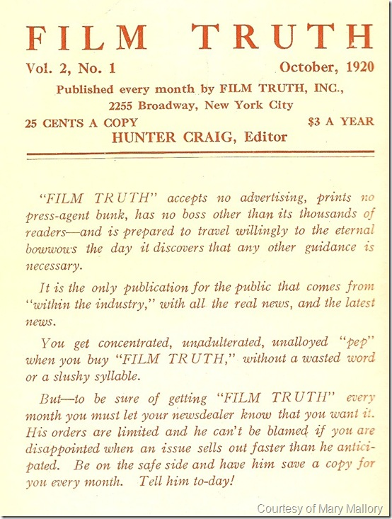 FilmTruth Inside cover