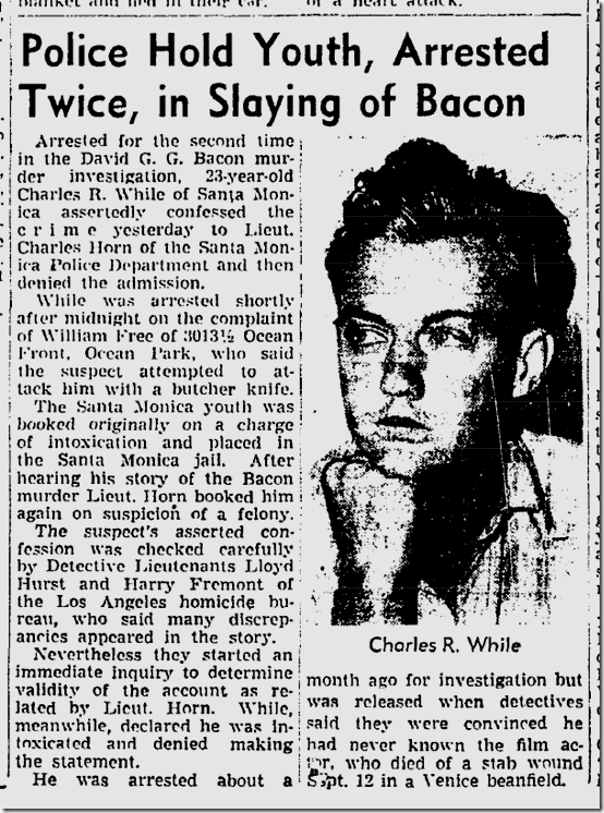 Oct. 15, 1943, David Bacon Killing