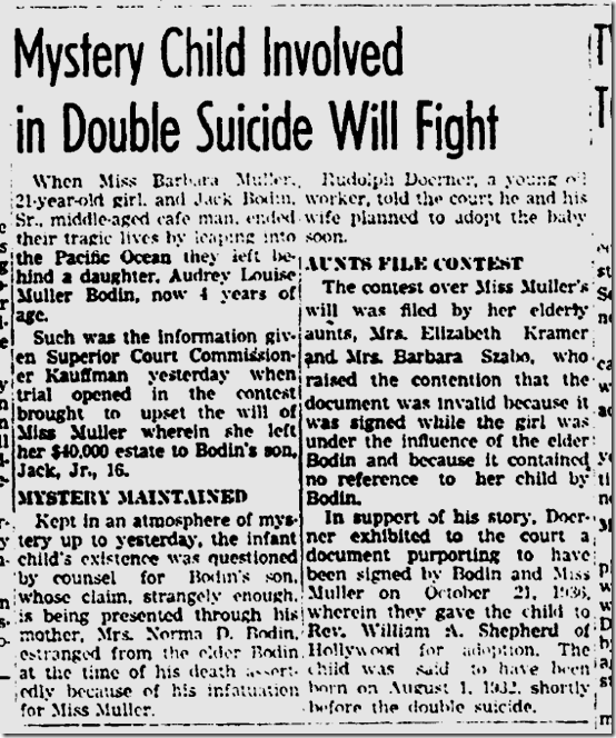 Nov. 7, 1936, Suicide Pact
