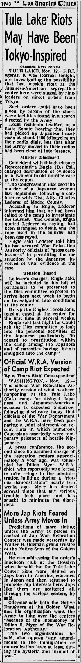 Nov. 13, 1943, Tule Lake