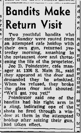 Oct. 26, 1943, Bandits Return