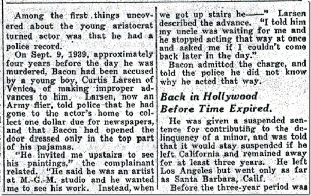 May 21, 1944, David Bacon