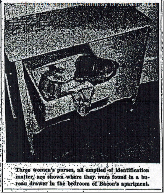 Sept. 18, 1943, Purses in David Bacon's Secret Getaway.