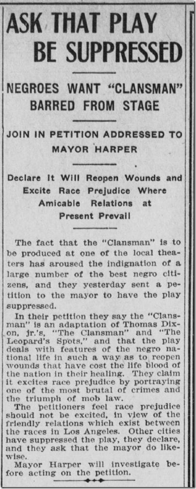 Oct. 1, 1908, The Clansman