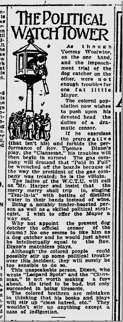 Oct. 2, 1908, The Clansman