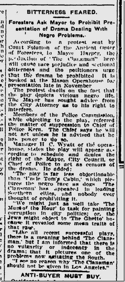 Oct. 11, 1908, Clansman