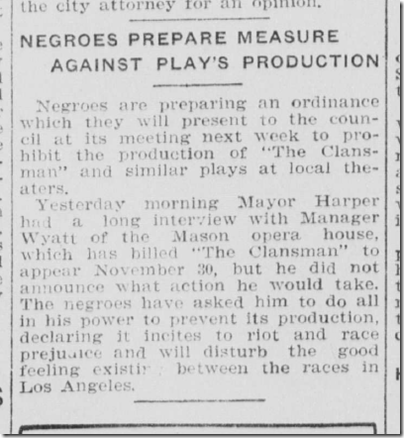 Oct. 13, 1908, The Clansman