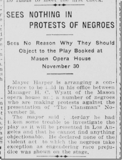 Oct. 14, 1908, The Clansman
