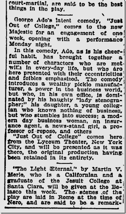 Nov. 29, 1908, The Clansman
