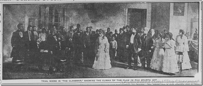 Dec. 1, 1908, The Clansman