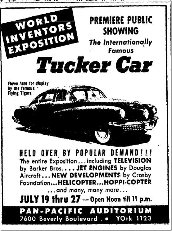 July 22, 1947 World Inventors Exposition