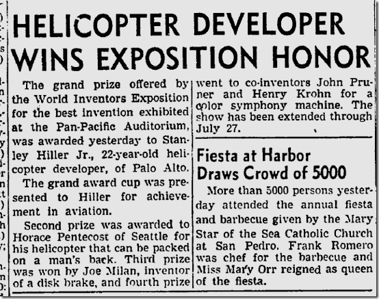 July 21, 1947, World Inventors Expo