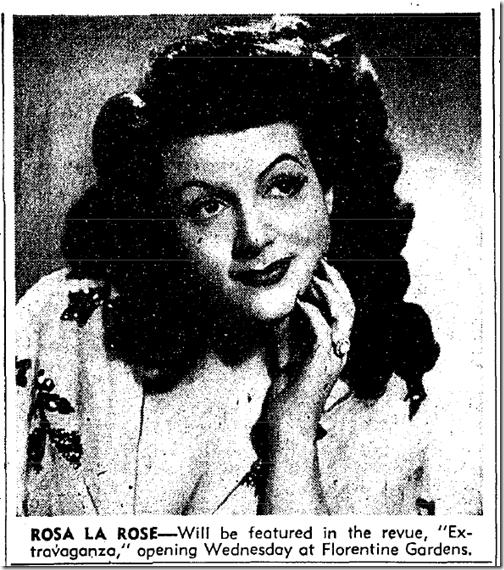 Oct. 18, 1943, Rosa la Rose