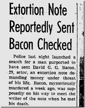Sept. 20, 1943, Bacon Killing