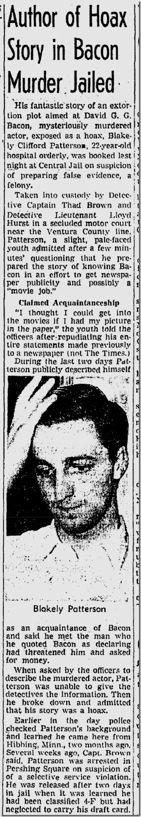 Sept. 21, 1943, Bacon Hoax