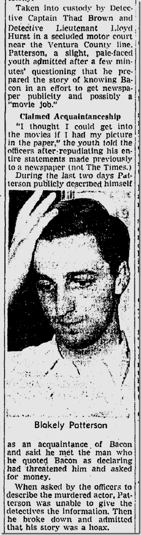 Sept. 21, 1943, David Bacon Killing