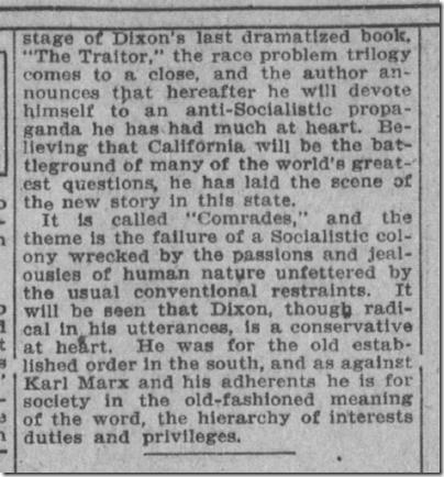 Nov. 15, 1908, The Clansman