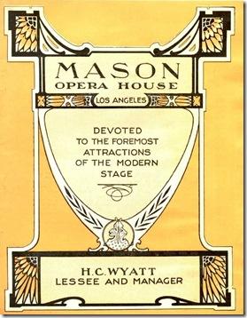 Mason Opera Cover, 1908