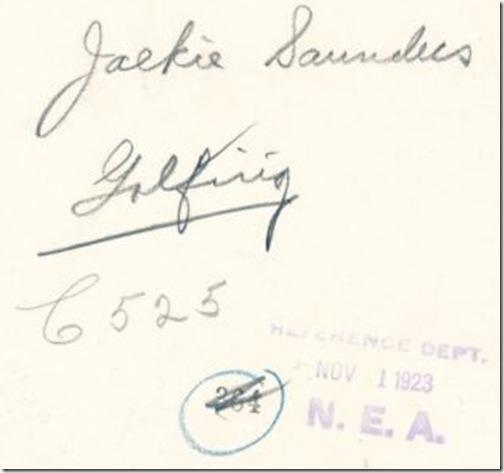 Jackie Saunders, Witzel