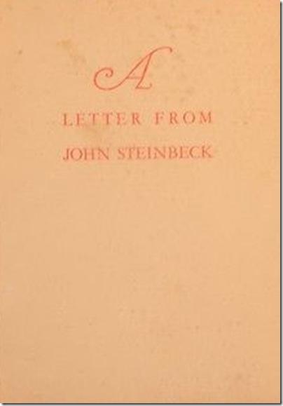 Zamorano Club, Letter From John Steinbeck