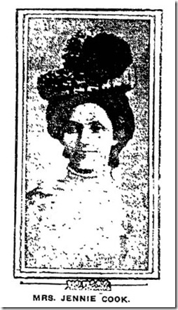 Miss Jennie Cook, Nov. 16, 1907