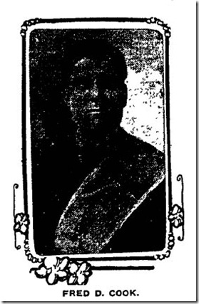 Fred D. Cook, Nov. 16, 1907