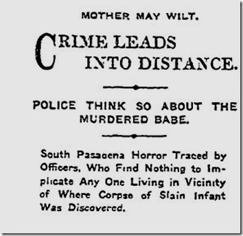 Nov. 23, 1907, Baby Killed With Ax
