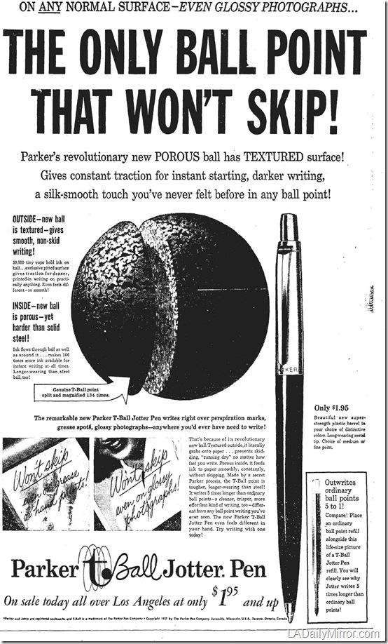 Sept. 16, 1957, Parker T-Ball Jotter