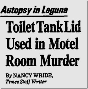 Dec. 13, 1983, Toilet Tank Murder