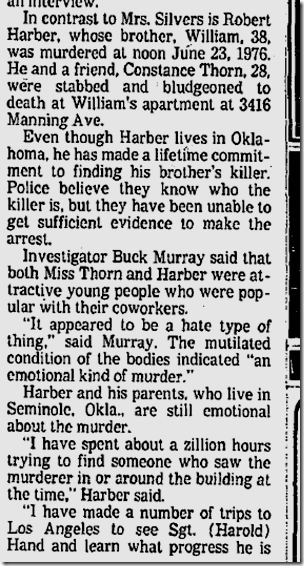 Oct. 23, 1977, Harber killing