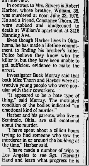 Oct. 23, 1977, Harber killing