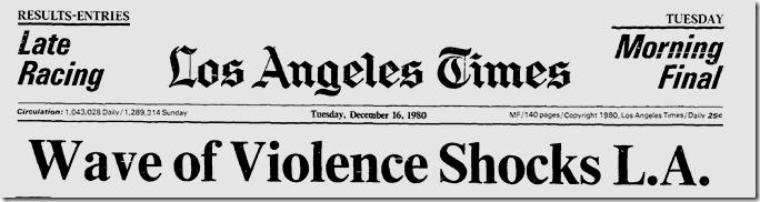 Dec. 16, 1980, Wave of Violence