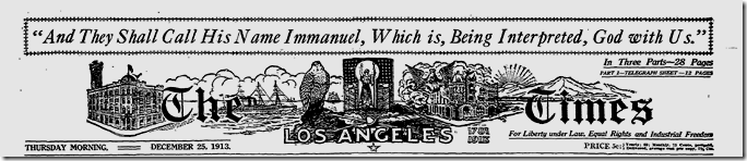 Dec. 25, 1913, Christmas in Los Angeles