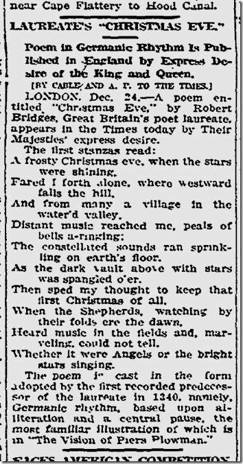 Dec. 25, 1913, Christmas Poem