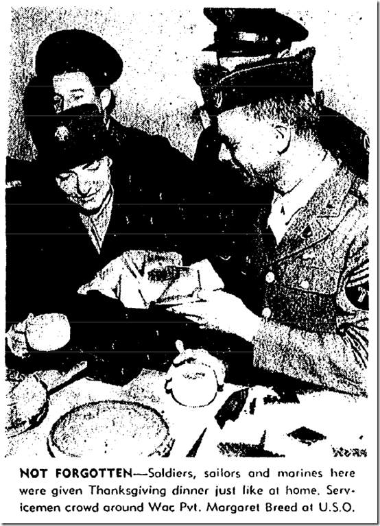 Nv. 26, 1943, Thanksgiving