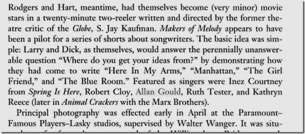 Lorenz Hart: A Poet on Broadway, Page 127