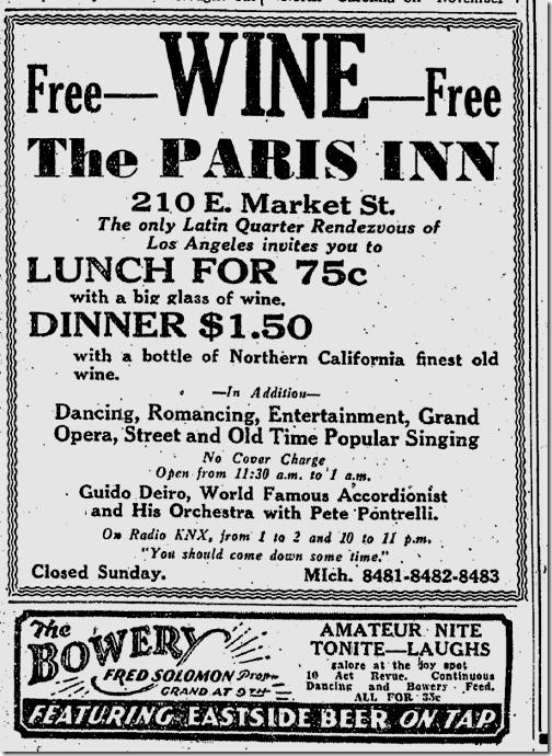Dec. 5, 1933, Prohibition Ends