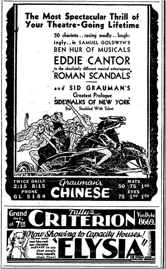 Dec. 5, 1933, Roman Scandals