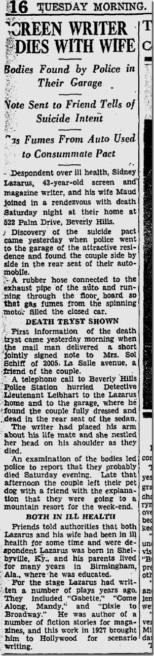 Dec. 5, 1933, Disney Lazarus