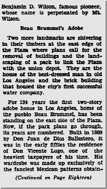 Oct. 22, 1933, Farewell to Old Los Angeles