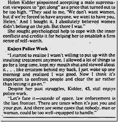 March 30, 1984, Helen Kidder