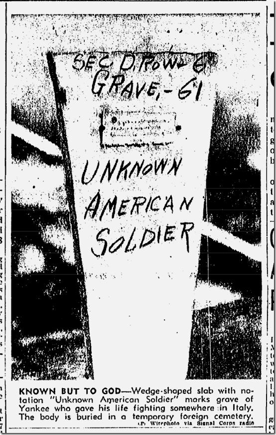 Dec. 12, 1943, Unknown Soldier