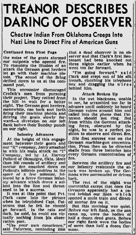 Dec. 12, 1943, Tom Treanor