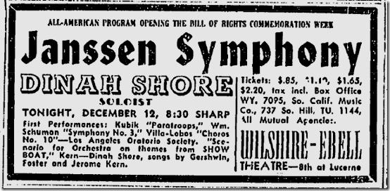Dec. 12, 1943, Dinah Shore