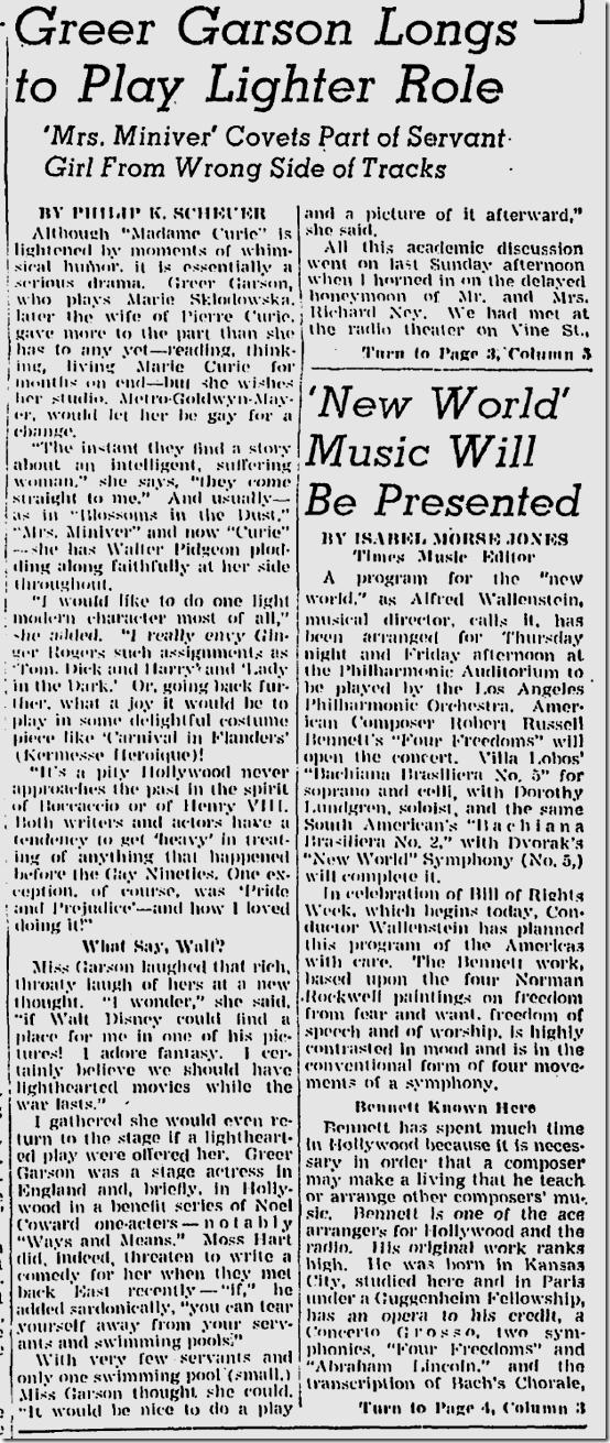 Dec. 12, 1943, Greer Garson