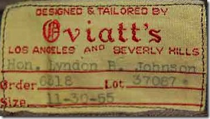 Oviatt's, Jacket, Lyndon Johnson