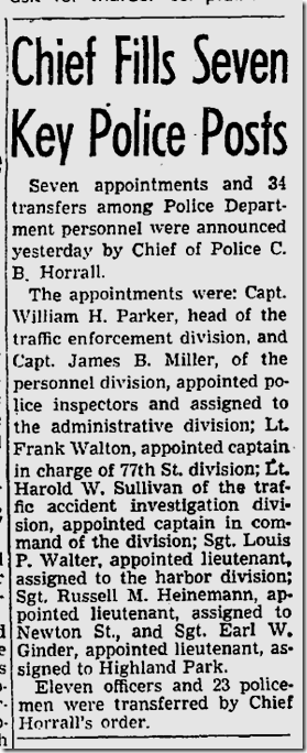 July 26, 1947, William H. Parker